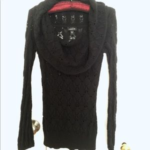 Bebe lace black sweater